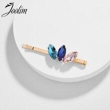 JOOLIM Beautiful Colorful Glass Hair Pin Fashion Jewelry Wholesale