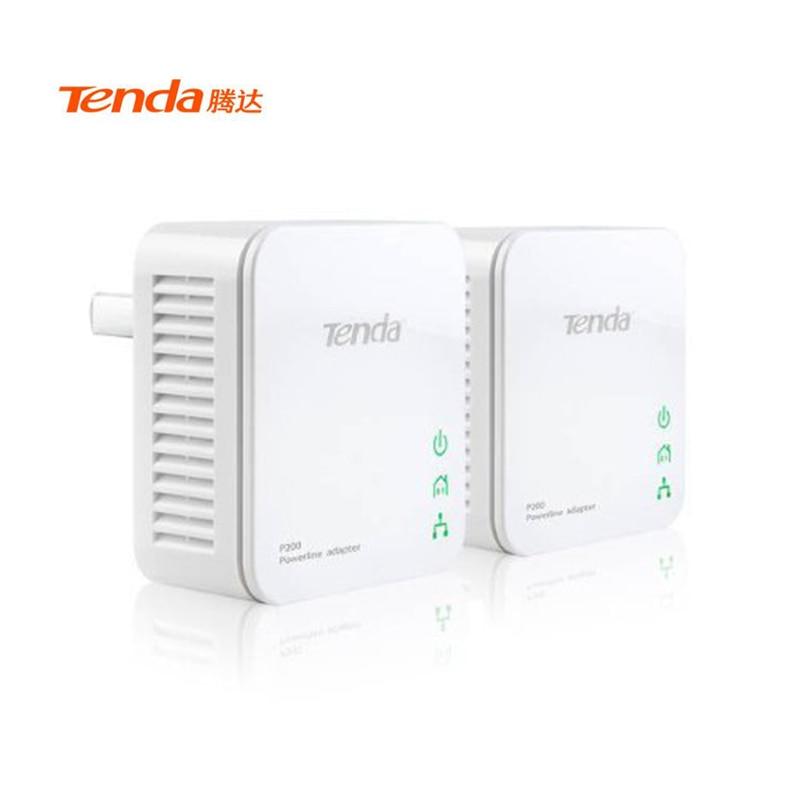 Tenda P202 AV200 Mini Powerline Adapter Network Starter Kit Up To 200Mbps 1 Pair For Router Home