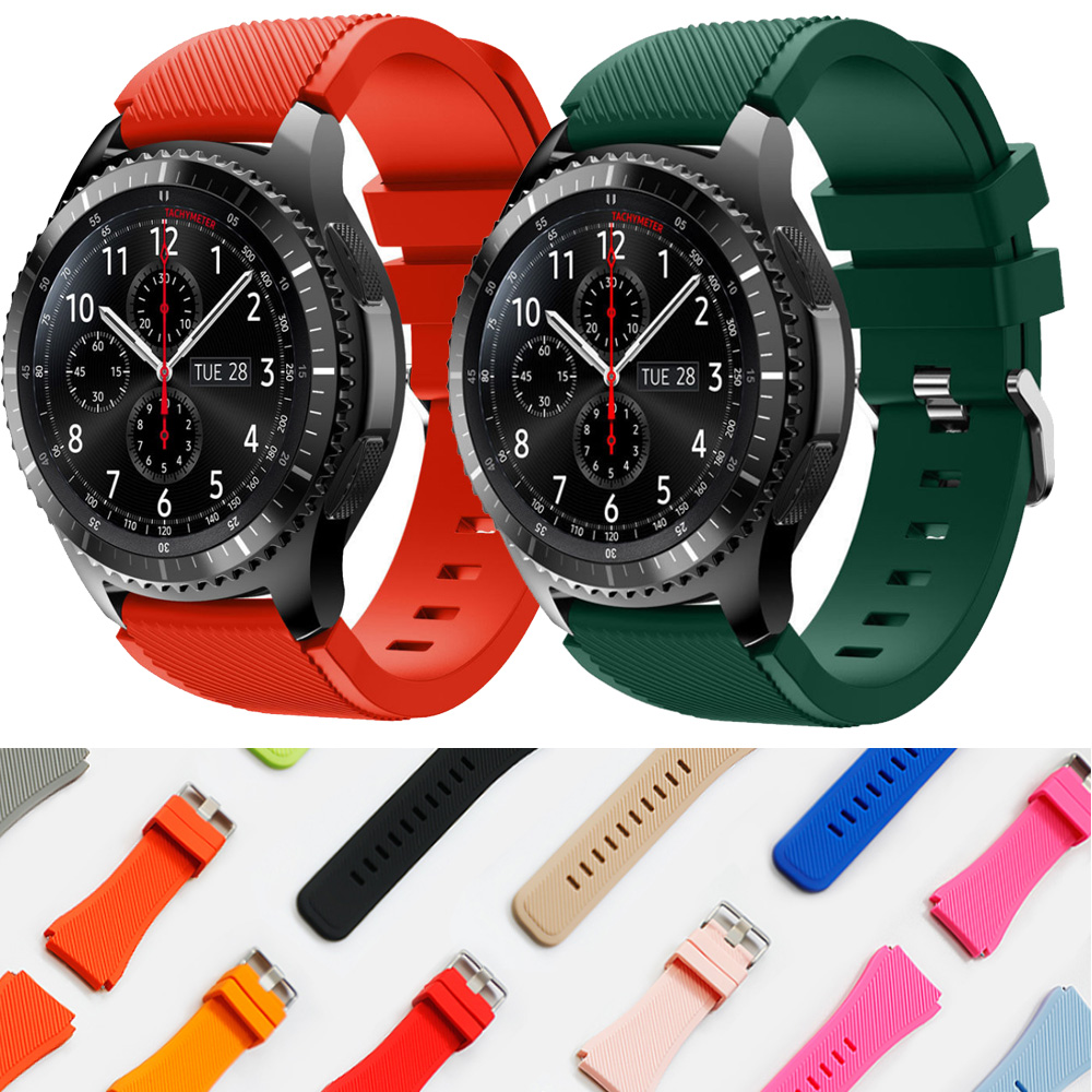 For Galaxy Watch 46mm Strap For Samsung Gear S3 Frontier Classic 22mm Watch Band Rubber Silicone Bracelet Huawei Watch Gt Strap