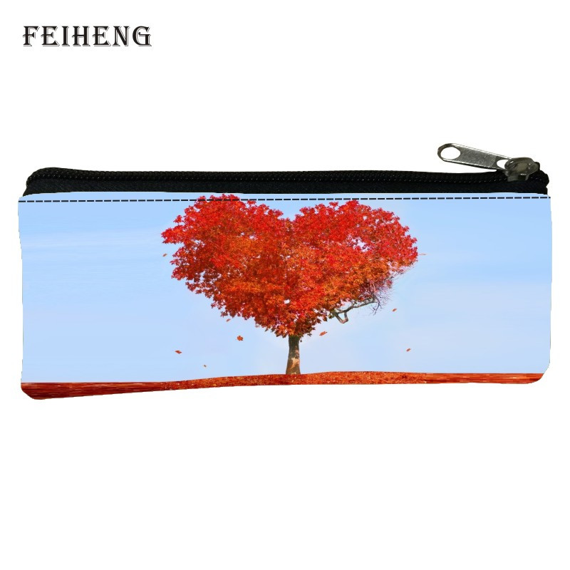 Special Offer  Hot Sale Polyester 100% Printing Landscape Baby Girls Pencil Bag Black Womens Key Wallets Kids Coin Purses Baby
