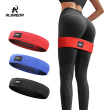 ALBREDA Men&women Hip Resistance Bands Booty Leg Exercise Elastic Bands For gym Yoga Stretching Training Fitness Workout FE347