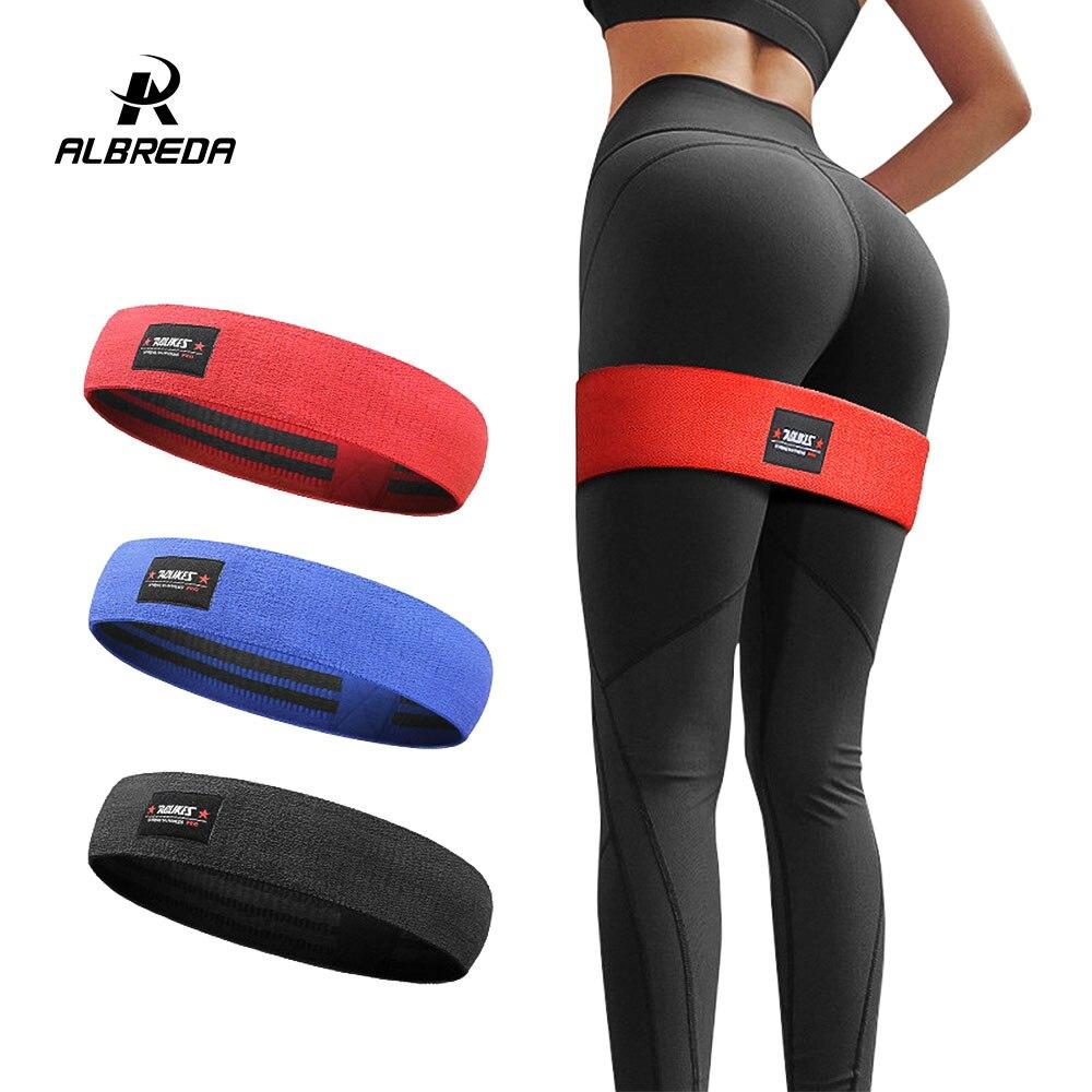 ALBREDA Men&women Hip Resistance Bands Booty Leg Exercise Elastic Bands For gym Yoga Stretching Training Fitness Workout FE347