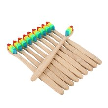 Soft Rainbow Bamboo Toothbrushes