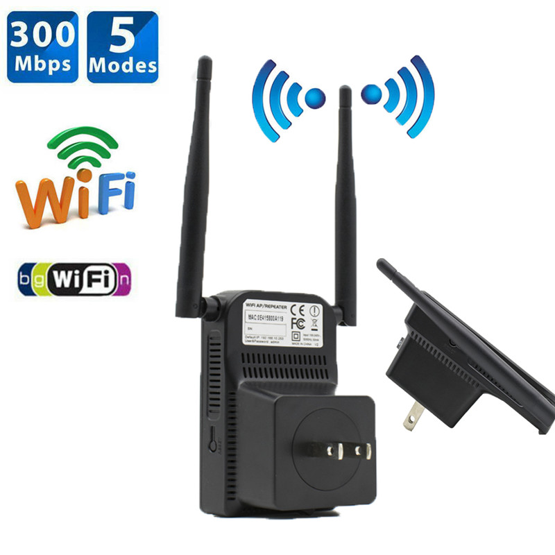 300Mbps Wifi Repeater Wireless Range Extender Signal Booster Network US/EU/UK Plug 3D25