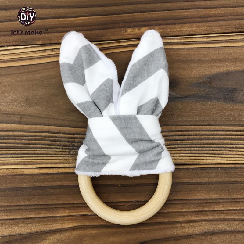 Let's make Montessori Teething Ring/ Baby Teething Ring/ Wooden Teether/ Wooden Teething Ring/ Baby Girl Teether