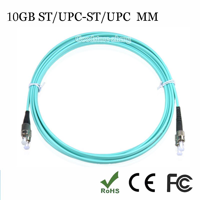 1 пара 10 ГБ ST-ST волоконно-оптический патч-корд соединительного кабеля, мм, multi-mode дуплекс 50/125, 3 м дома Электрические провода