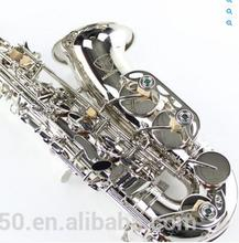 MARGEWATE Top Alto Saxophone E Flat Sax Mouthpiece Nickel Plated Musical Instruments Professional level Playing Saxophone