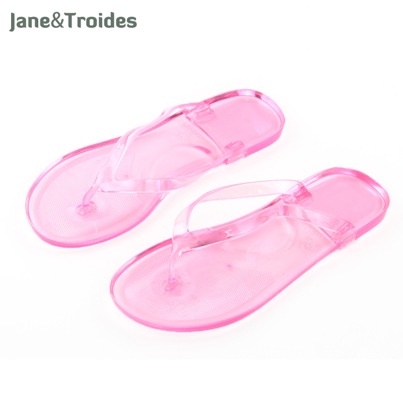 Summer Beach Seaside Women Slippers Transparent Thicken High Quality Bath Flip Flops Anti Slip Casual Sandal Fashion Woman Shoes