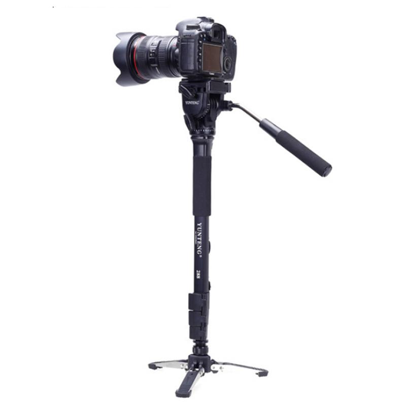 Prix pour Yunteng VCT-288 Caméra Manfrotto Trépied avec Vidéo Fluide Pan Head & Unipod Pour Canon Nikon Appareils Photo REFLEX