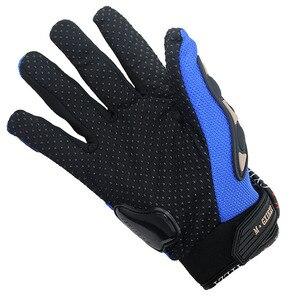 Image 2 - Breathable Gloves Leather Gloves Motorcycle Gloves Driving Road Bike Protective Gloves for Men