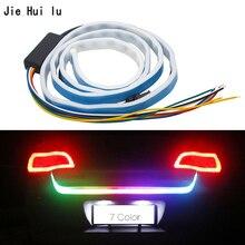Samochód dodatkowe światło stop dynamiczny Streamer pływający pasek LED 12v bagażnik samochodowy tylny hamulec działający lampka kierunkowskazu