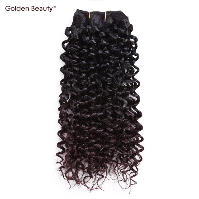 Jerry Curl Weave Ombre Synthetic Braiding Hair Sew In Hair