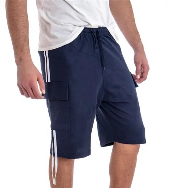 2019 Hip Hop Summer Men's Black Streetwear Pockets Shorts Male Punk Casual Knee Length Short SweatPants