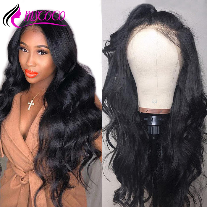 Mscoco Body Wave Lace Front Human Hair Wigs 360 Lace Frontal Wig Pre Plucked With Baby Hair 250 Density Brazilian Lace Front Wig