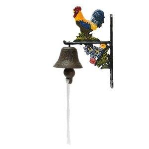 Image 2 - ヴィンテージスタイルのメタル鋳鉄オンドリドアベルウォールマウント家の庭の装飾アクセス制御