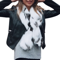 Himanjie Women S Faux Fur Collar Shawl Grey Color Soft Imitated Fox Fur Scarves Sexy Lady