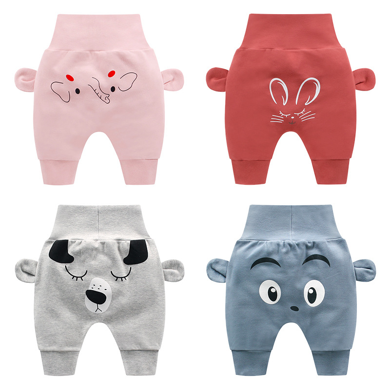 Baby Bottom Pants Lovely Baby Girls Boys Clothing Cartoon Printing 100% Cotton Trousers(China)