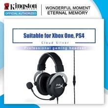 Kingston fone de ouvido para jogos hyperx, fone de ouvido com núcleo nuvem, com microfone hi fi, auriculares para pc, ps4, xbox, dispositivos móveis