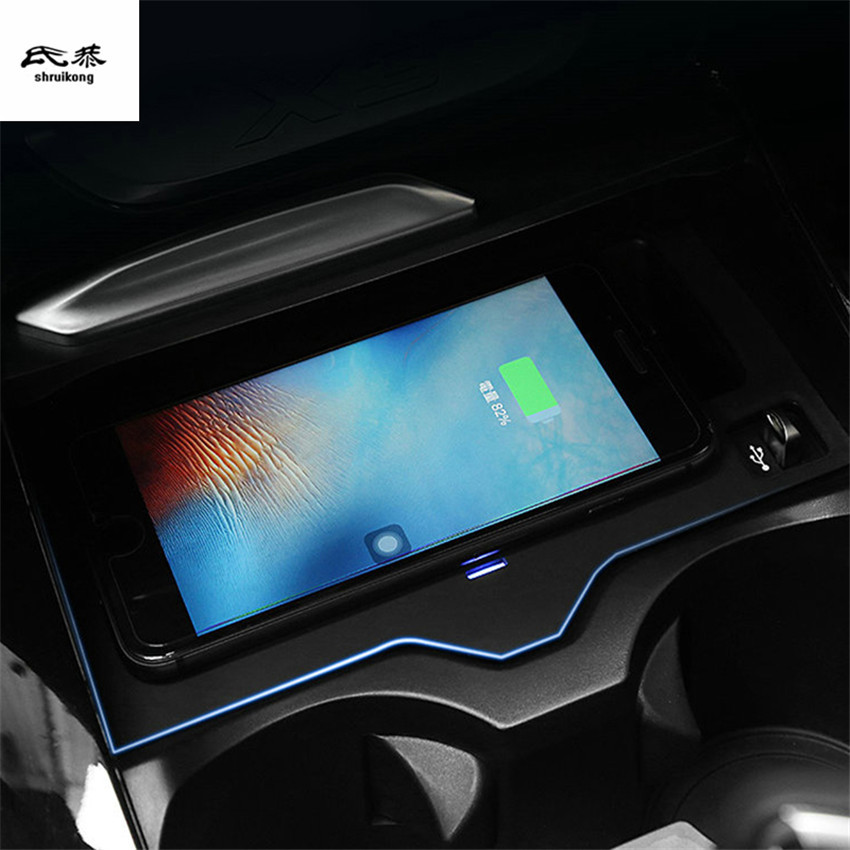 Mobile phone QI wireless charging Pad Module Car Accessories For <font><b>BMW</b></font> <font><b>X3</b></font> <font><b>G01</b></font> 2018 20i 30i 20d 30 image