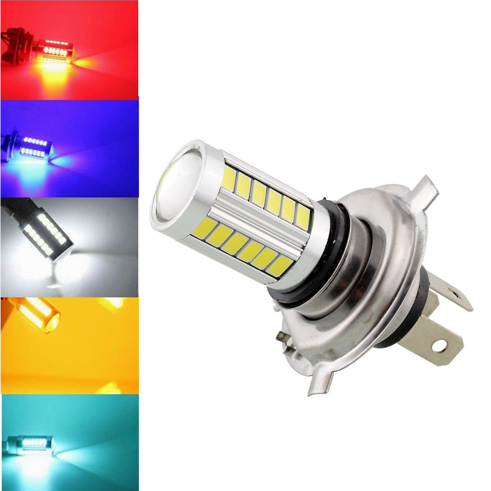 CYAN SOIL BAY White Ice Blue Red Amber Yellow H4 9003 HB2 66 63 33 SMD LED DRL Fog Light Bulb High Low Beam 33SMD 12V car vehicle h16 5202 2835 63 smd 1200lm amber yellow orange bulb fog light headlights for drl 6000k 12v 24v bright than 33 smd