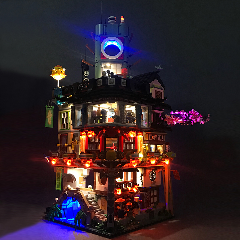 Led Light For Lego 70620 Ninjago City Masters of Spinjitzu Building Bricks Blocks Movie Toys Gifts (only light with Battery box) цена