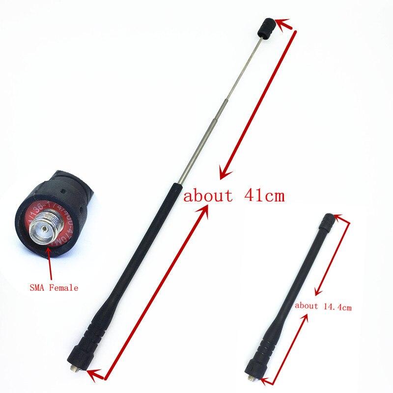Honghuismart Télescope ham radio antenne SMA Femelle UHF VHF Double Bande pour Kenwood BaoFeng UV5R, PuXing, TYT Weierwe talkie talke