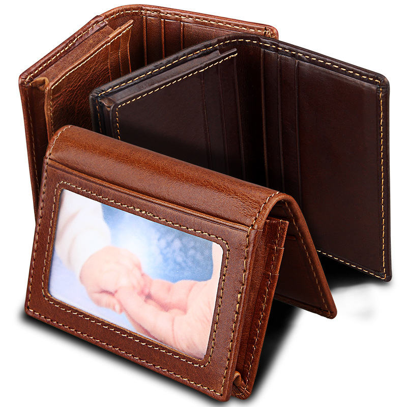 Fashion Men Women Genuine Leather Credit Card Holder Cowhide Business Cards Wallet RFID ID Cardholder Case Porte Carte smiley sunshine fashion business id credit card holder women bank card case cardholder female slim wallet for cards porte carte