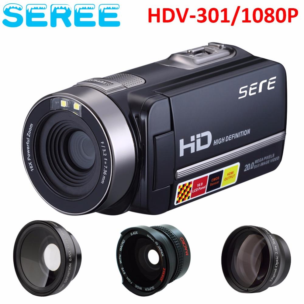 Seree 17 New Digital Camera Full HD 1080P 16x Zoom Recorder Camcorder Mini 3'' Touch DV DVR 24MP Video Camera 3