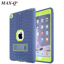 """For Apple New ipad 9.7"""" 2017 Case Cover High Impact Resistant Hybrid Three Layer Heavy Duty Armor Defender Full Body Protector"""