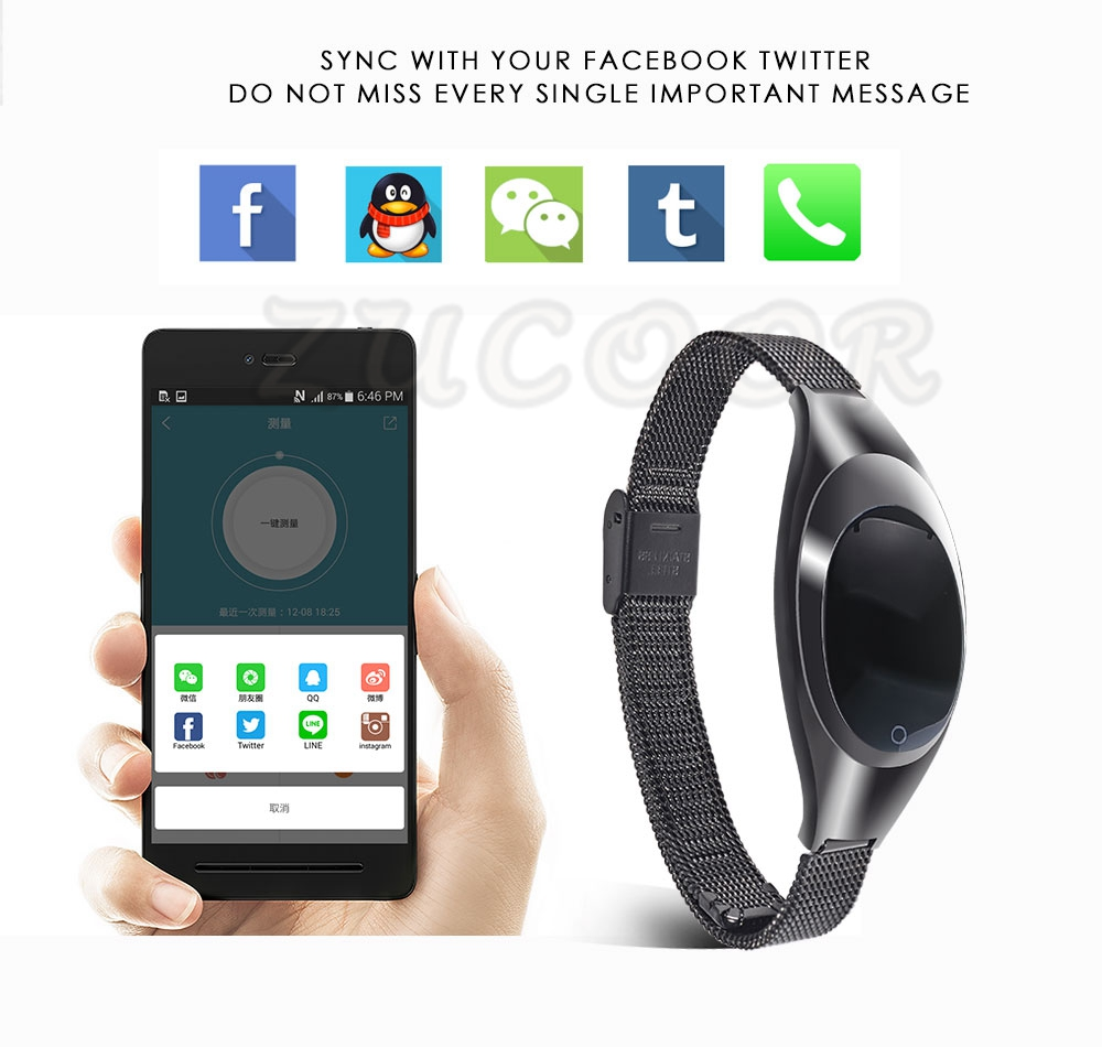 Smart Wristband Z18 Bluetooth Bracelet Blood Pressure Oxygen Heart Rate Monitor Waterproof Pedometer For iOS Android Women Men 8
