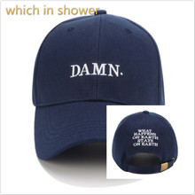 Que en la ducha cinco colores algodón bordado DAMN béisbol hip hop el  rapero hombres snapback sombrero curvado del sol del veran. 6f7317aefe0
