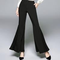 Flare Pants Woman 2019 Spring New Women Fashion Casual Office Lady Solid color Slim Female Black Long Pants
