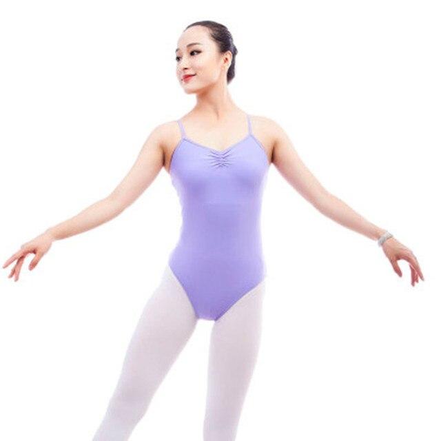 8a5f443ce Adult Camisole Gymnastics Leotards Back Cross Bodysuit Sexy Women ...