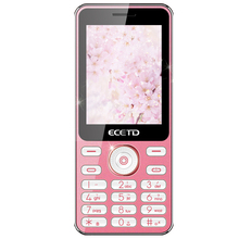 Hot sale ECETD E168 functional phone single core MTK CPU 2.4 inch screen TFT material color screen candy colors and bar design