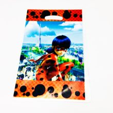 10pcs Miraculous Ladybug plastic loot bags Ladybug candy bags Ladybug theme birthday party supplies plastic candy bags(China)