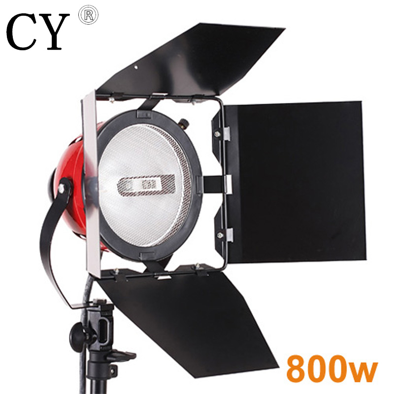 CY High Quality 800w 220V Red Head Light Continuous Lighting For Studio Video Light DSLR/SLR Camera Photography Lighting