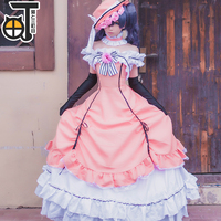 Black Deacon Cos Black Butler Ciel Phantomhive Cosplay Dress Princess Clothing Halloween Party Costume Whole Set With Hat Glove