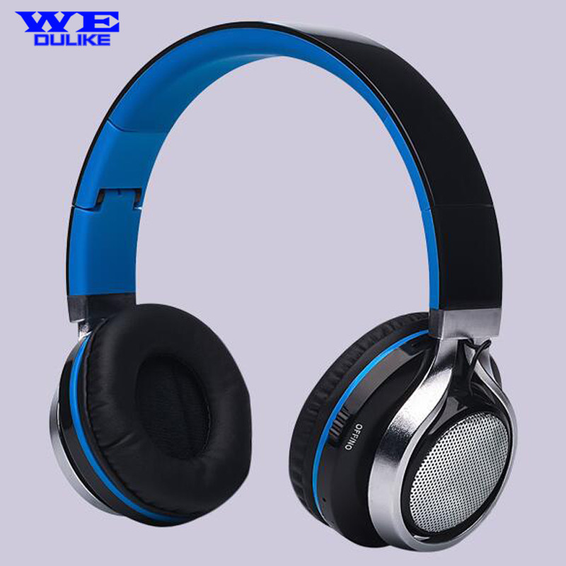 2016 New fone de ouvido Flash LED Light Bluetooth Headphones Wireless Sports TF Card Support FM MIC Earphone 2016 new arrive auriculares stn 13 stereo bluetooth headphones foldable wireless headset with mic support tf fm fone de ouvido