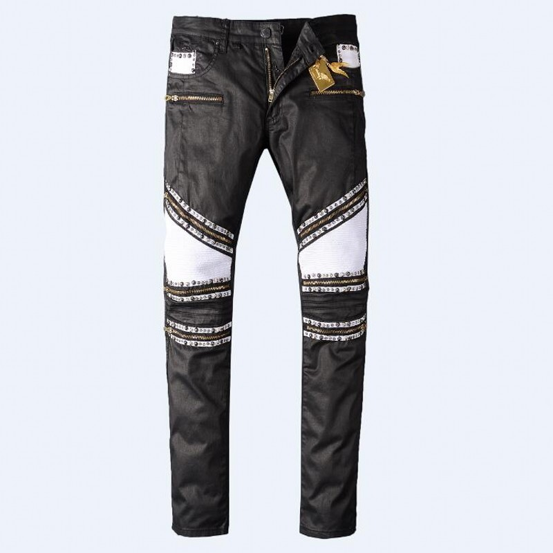 ФОТО Robin Jeans Hommes Black Jeans Spring Autumn Pants High Quality Manually Paste Crystal Golden Wings Zipper Fashion Joint Jeans