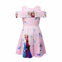 2018 New Kids Anna Elsa Dress Party Vestidos Baby Girl Elegant Clothes Children Snow Queen Halloween