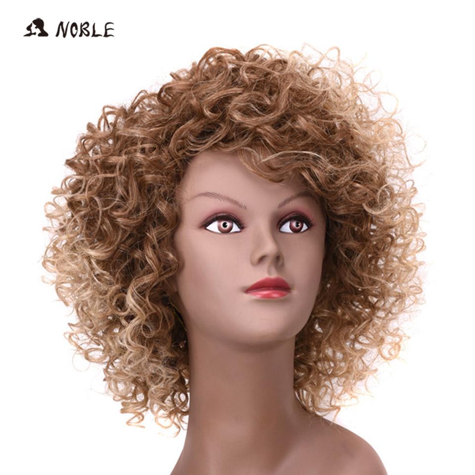 noble peluca de pelo rizado corto sinttico pelucas rizado rizado b slo pelucas sintticas para las mujeres a prueba de calor