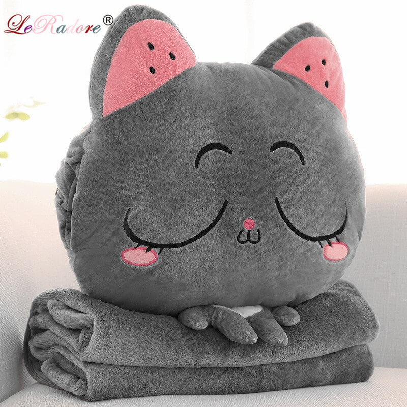 Blankets The Cheapest Price Leradore Cartoon Bolster Nap Blanket Warm Hands Plush Multi-functional Cushion Office Chair Back Bolsters Pillows Throw 6 Colors Good For Energy And The Spleen Home Textile