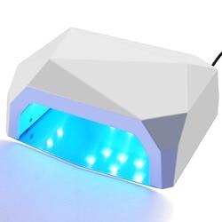 36W UV Led Lamp Nail Dryer 3 Color Diamond Shaped 15Pcs Beads UV Lamp Nail Lamp Curing for UV LED Gel Nail Polish Nail Art Tools