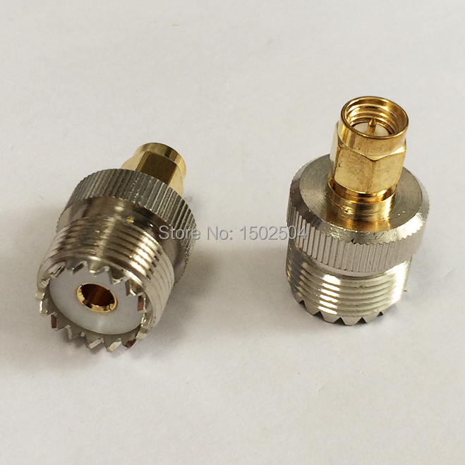 UHF  female jack  switch  SMA male plug   RF Coax Adapter convertor Straight  Nickelplated  NEW wholesale 2pcs lot yt70b rp sma male plug switch sma female jack rf coax adapter convertor connector straight goldplated sell at a loss