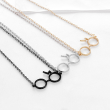 CUTEECO Fashion Fine Potter Lightning Scar Glasses Necklaces For Women Silver Pendants Retro Chains Necklace Wholesale