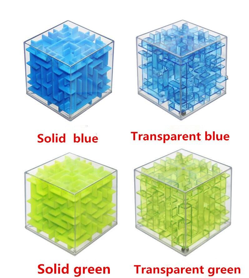 <+>  Здорово!! Лабиринт Магический кубик Головоломка 3D Mini Speed Cube Лабиринт Катящийся шарик Игрушк ✔
