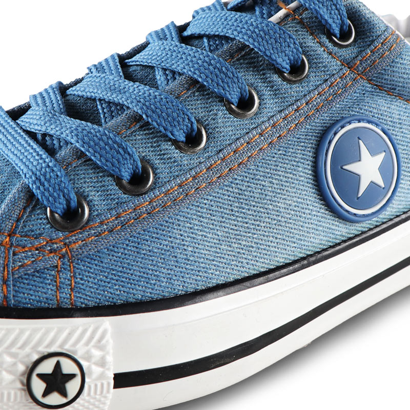Image 3 - Мужская повседневная обувь, летние кроссовки из джинсовой ткани, Модные дышащие кроссовки на плоской подошве со шнуровкой, вулканизированные кроссовки, Chaussure hommesПовседневная обувь   -