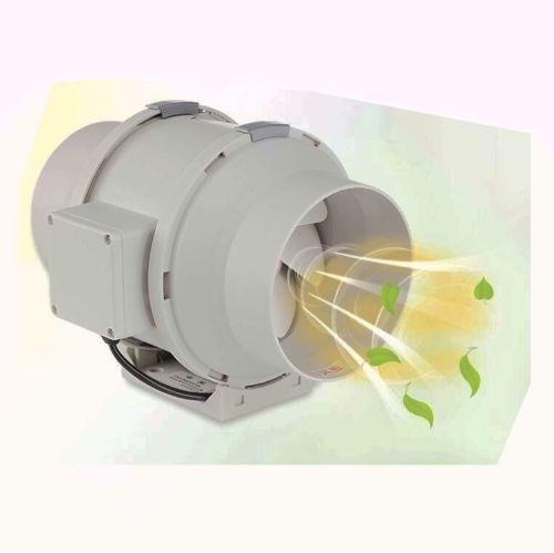 2pcs 220V Booster Low Noise Circular Duct Fan Exhaust Fan & Switch 2280rmin 6