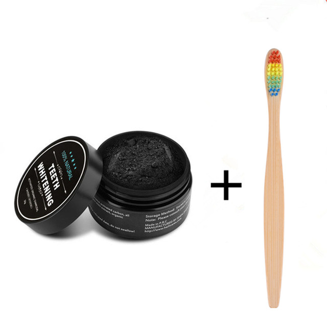 Diy Charcoal Mask Open 4 5 Capsules And Use A Brush To: Teeth Whitening Powder Kit Natural Activated Charcoal