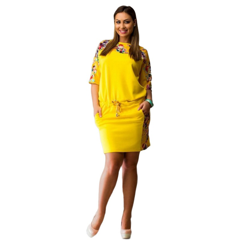 Buy Cheap Women Dresses Summer 2017 Floral Half Sleeve Casual Slim Evening Party Dress Plus Size 6XL